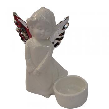 2064 Anjelik na čajovú sviečku 10x7,7x13cm